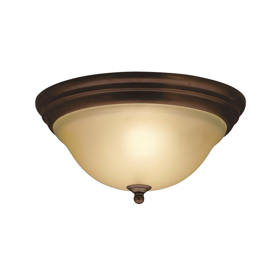 Kichler Telford 14-in W Olde Bronze Flush Mount Light