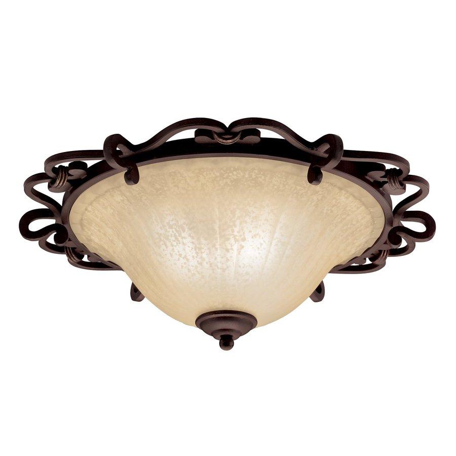Shop Kichler Lighting Wilton 20.25-in W Carre Bronze Ceiling Flush Mount Light at Lowes.com