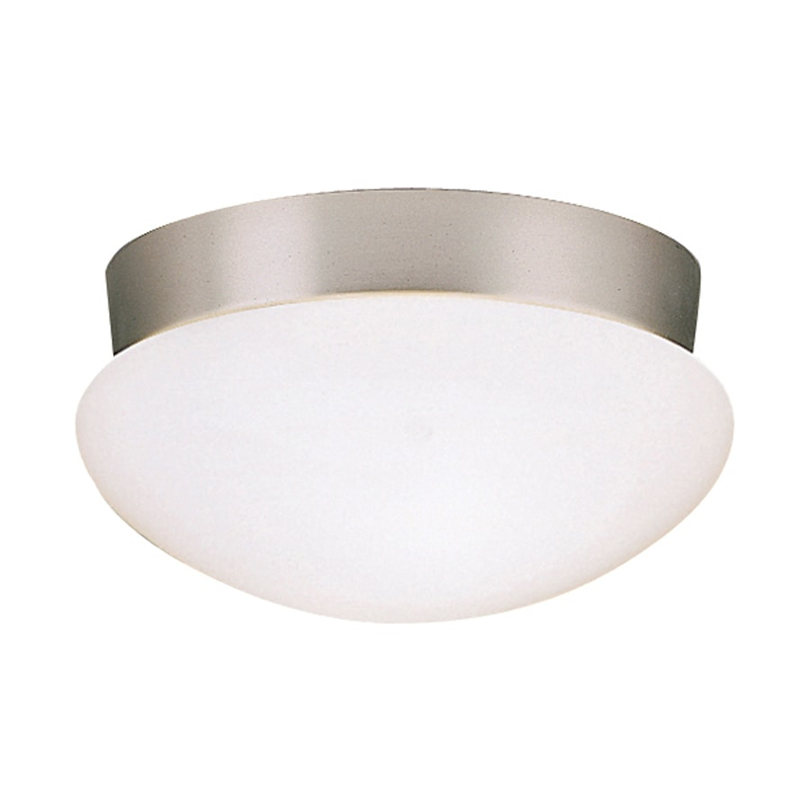 Kichler Ceiling Space 9.25-in W Brushed Nickel Flush Mount Light