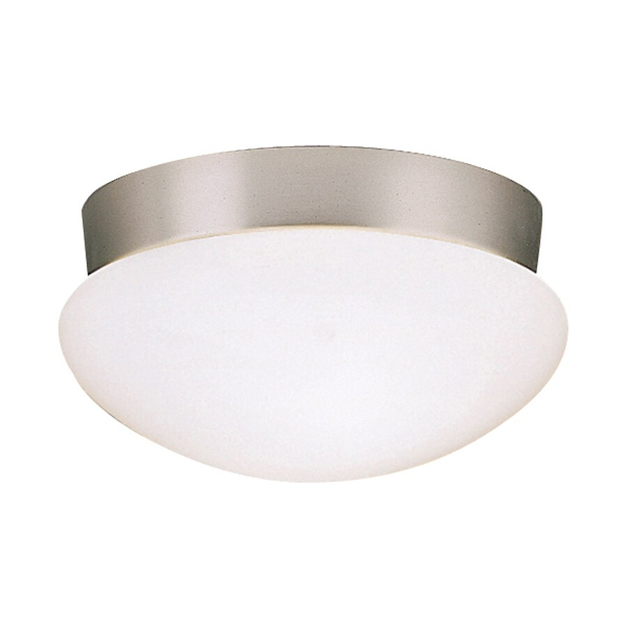 Kichler Lighting Ceiling Space 9.25-in W Brushed Nickel Flush Mount Light