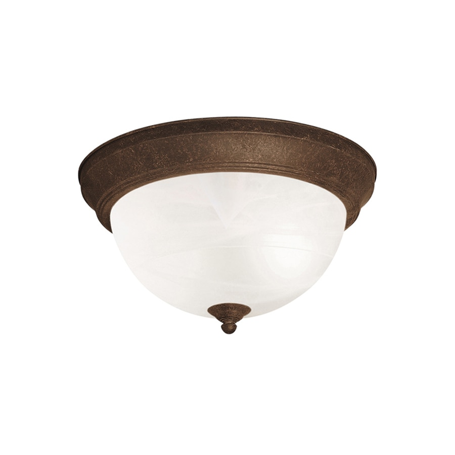 Kichler Lighting 11.25-in W Tannery Bronze Ceiling Flush Mount Light