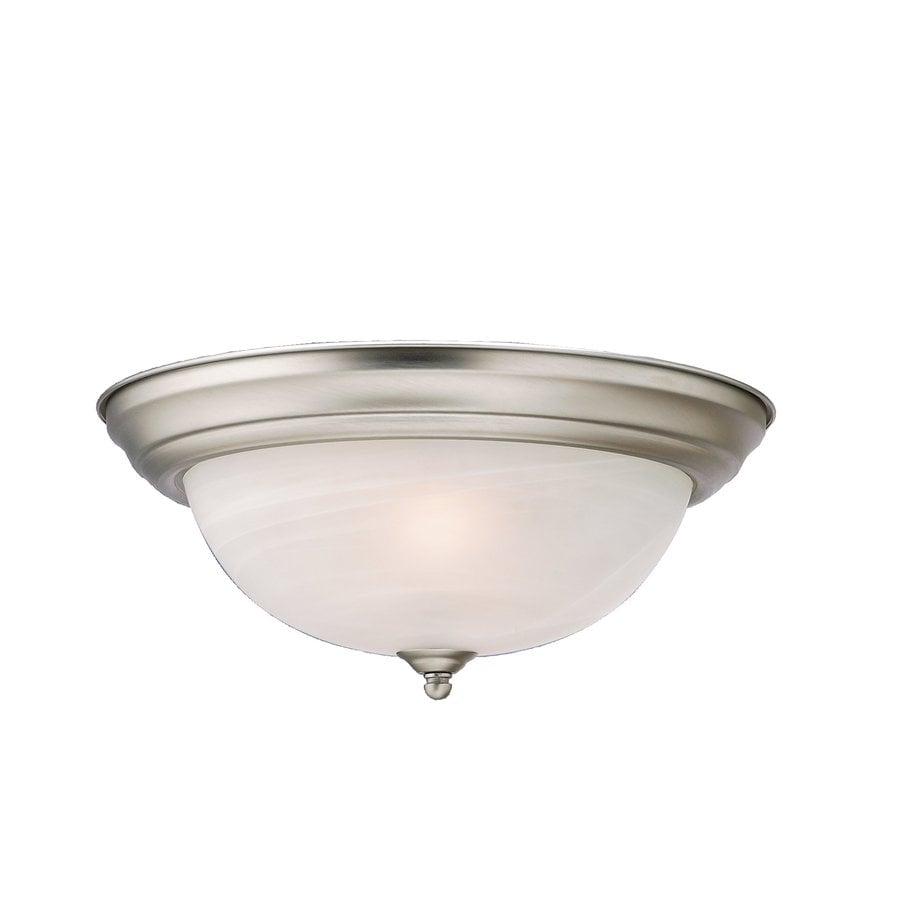 Kichler Lighting 13.25-in W Brushed Nickel Flush Mount Light