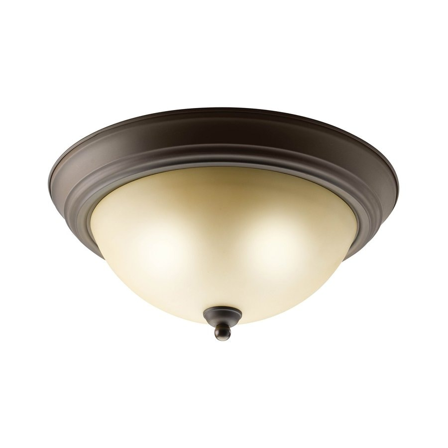 Kichler Lighting 13.25-in W Olde Bronze Flush Mount Light