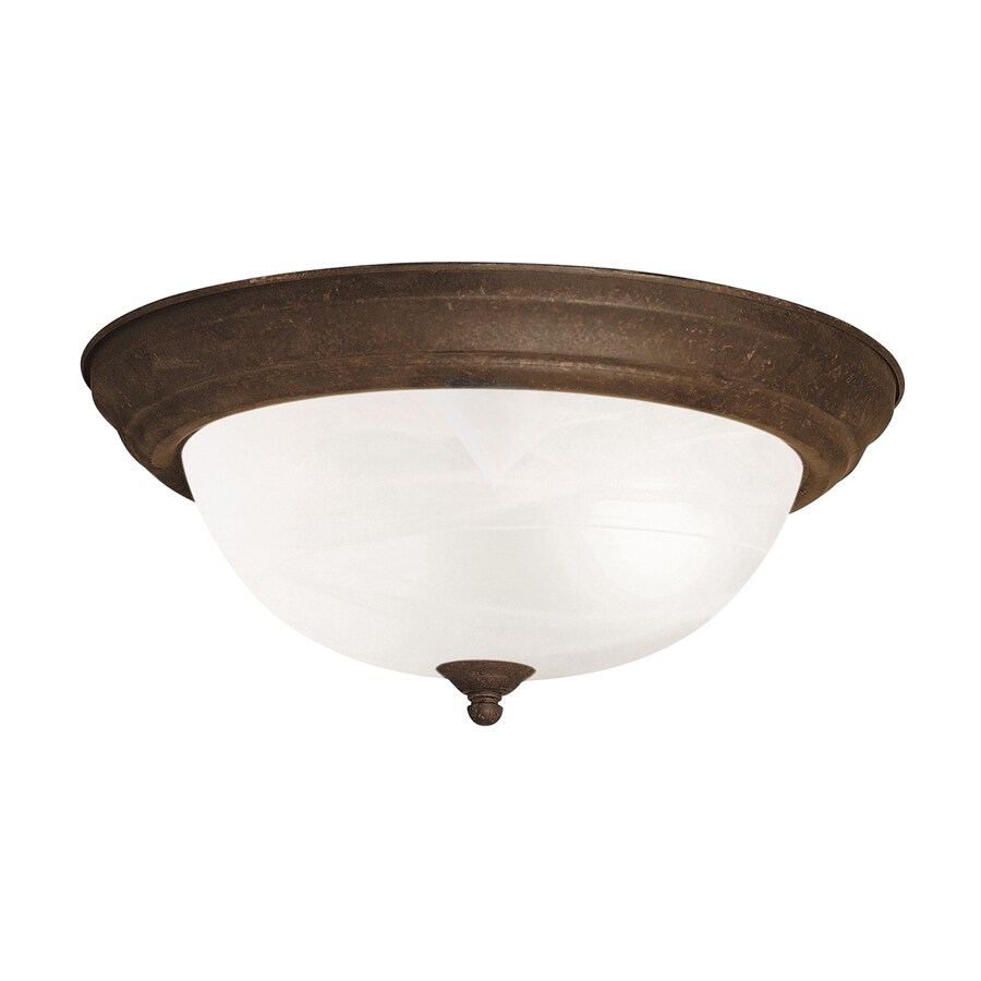 Kichler 13.25-in W Tannery bronze Flush Mount Light