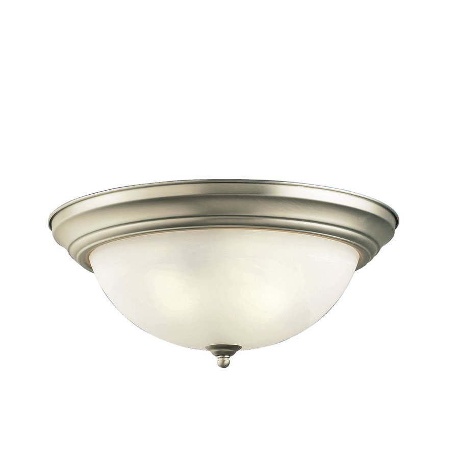 Kichler 15.25-in W Brushed Nickel Flush Mount Light