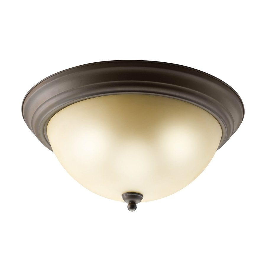 Kichler 15.25-in W Olde bronze Flush Mount Light