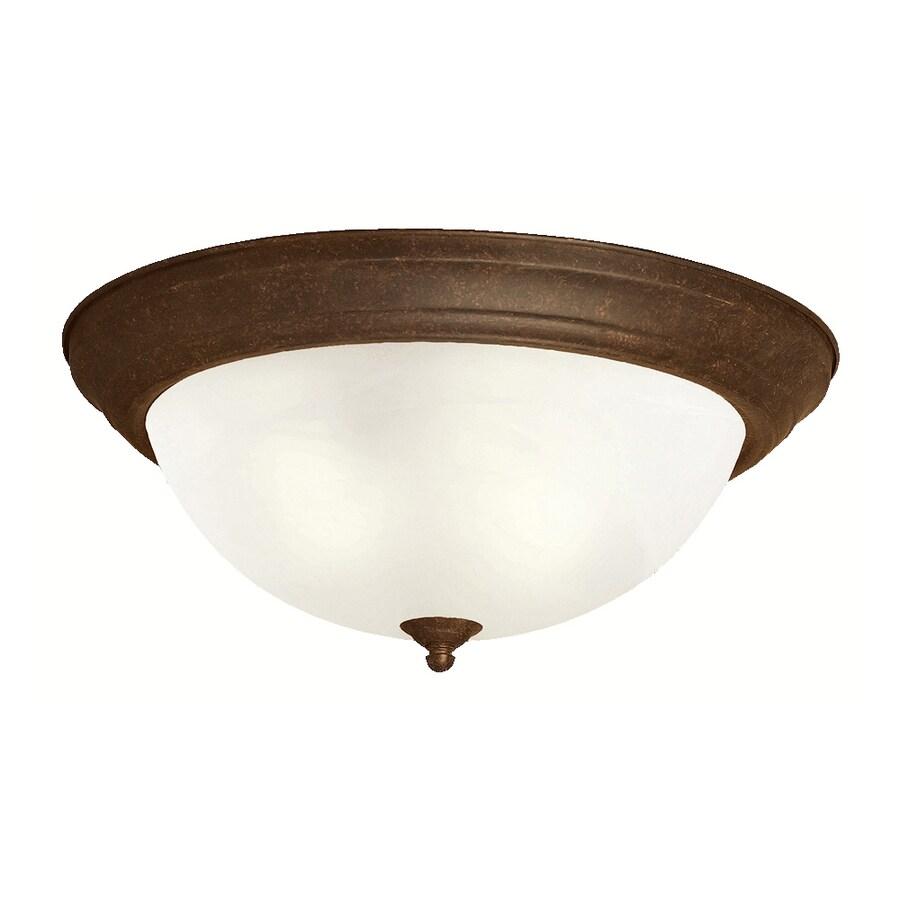 Kichler Lighting 15.25-in W Tannery Bronze Ceiling Flush Mount Light