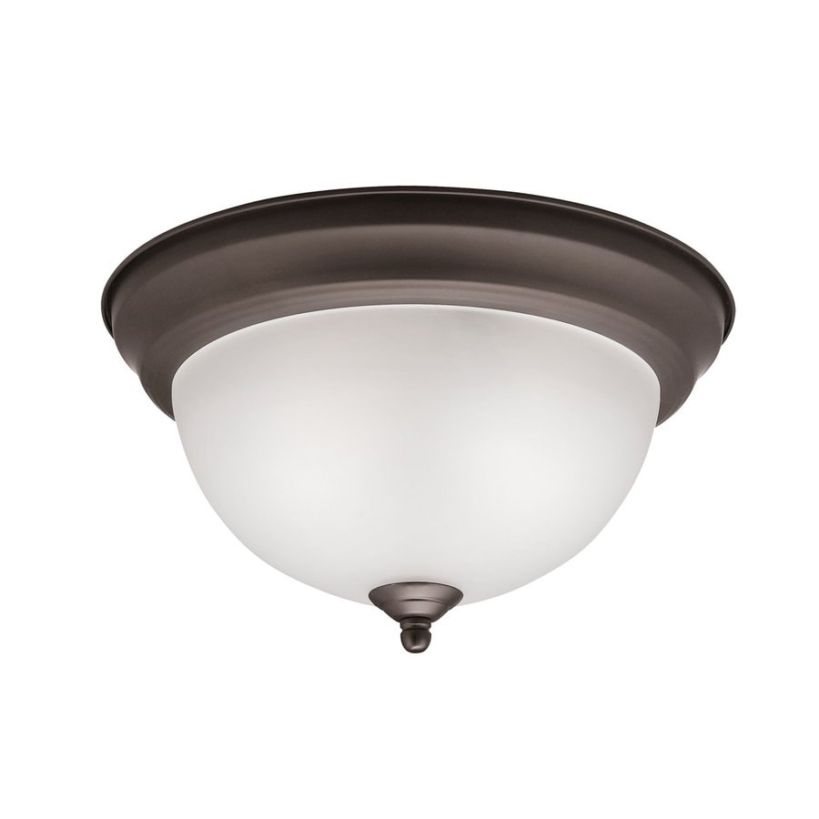 Kichler 11.25-in W Olde Bronze Flush Mount Light