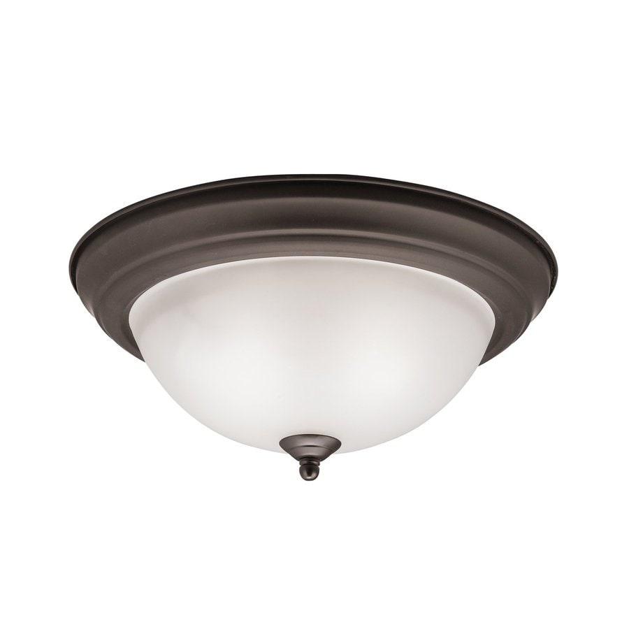 Kichler Lighting 13.25-in W Olde Bronze Ceiling Flush Mount Light