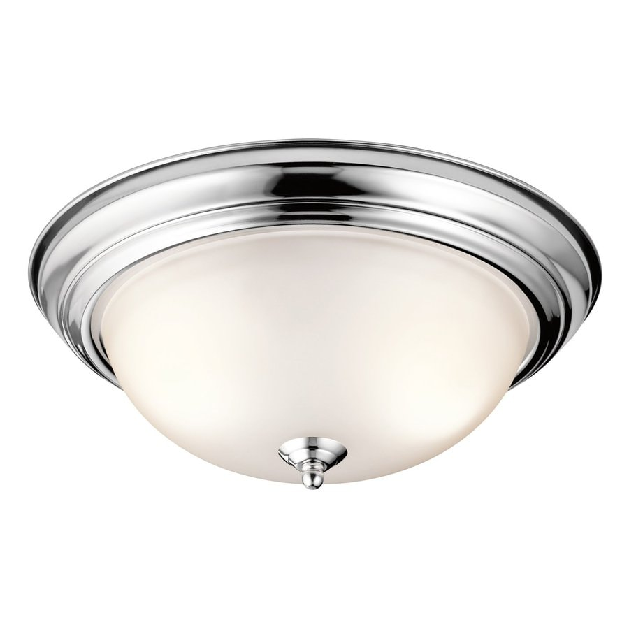 Kichler 15.25-in W Chrome Flush Mount Light