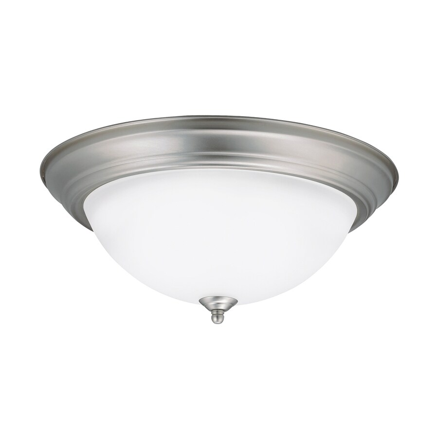 Kichler 15.25-in W Brushed Nickel LED Flush Mount Light