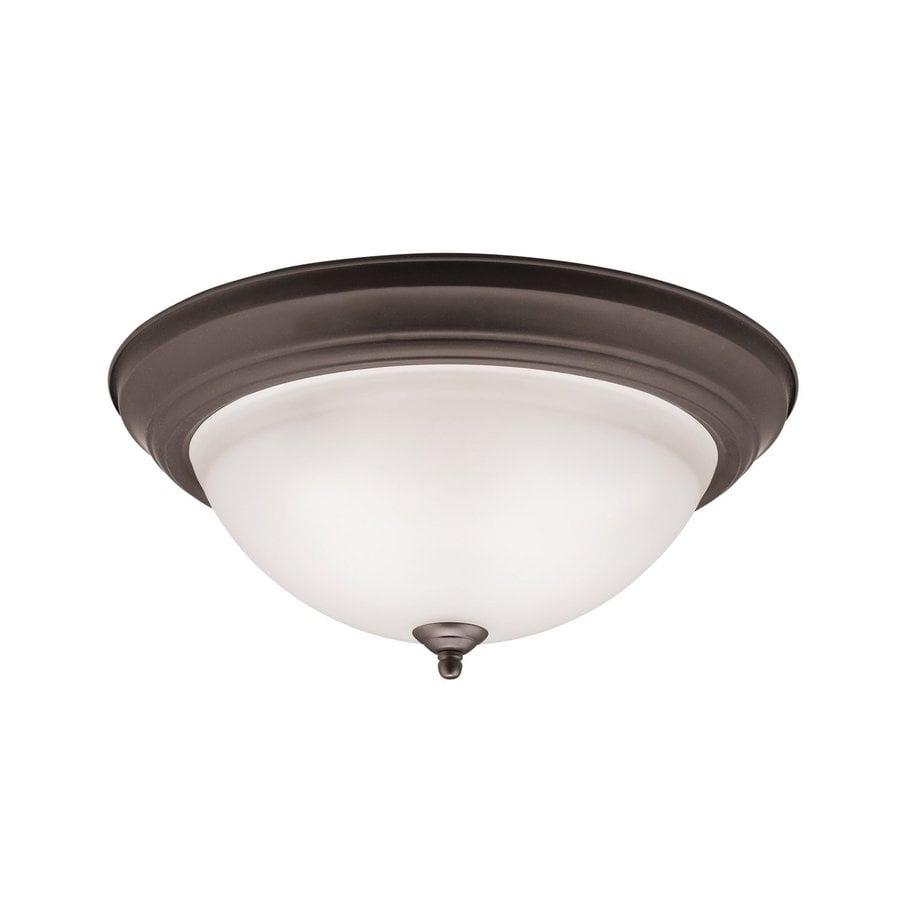 Kichler Lighting 15.25-in W Olde Bronze Flush Mount Light