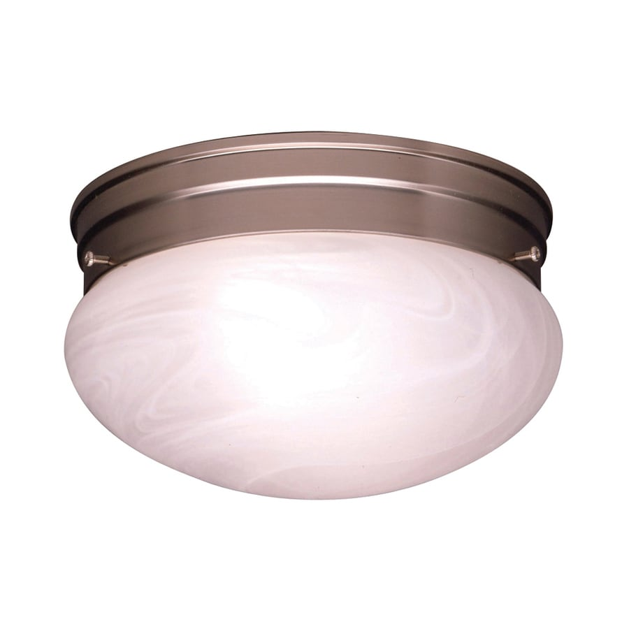Kichler Lighting Ceiling Space 9.25-in W Brushed Nickel Ceiling Flush Mount Light