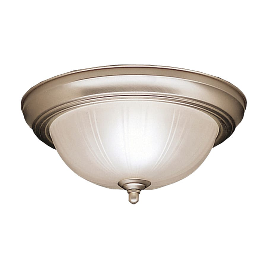 Kichler Lighting 11.5-in W Brushed Nickel Ceiling Flush Mount Light
