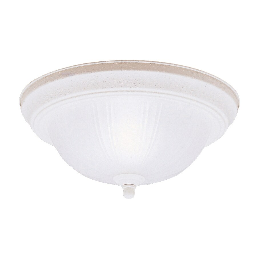 Kichler 11.5-in W Stucco white Flush Mount Light