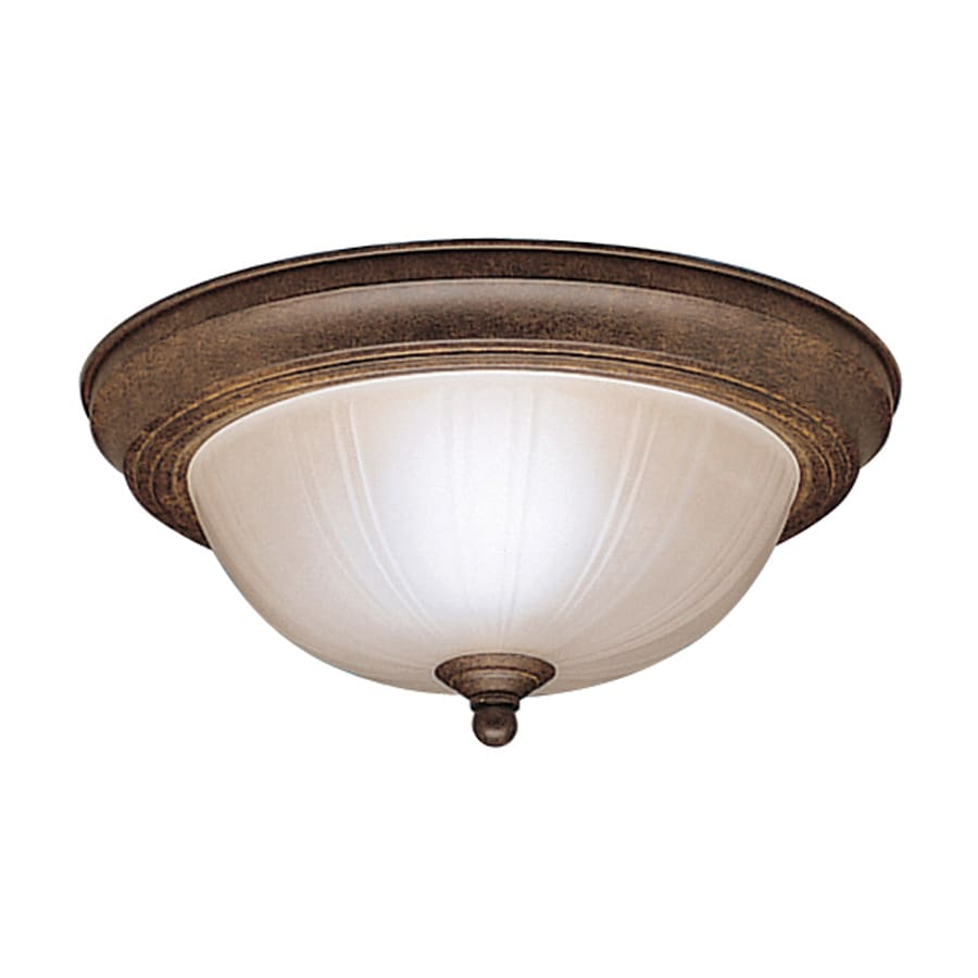 Kichler 11.5-in W Tannery bronze Flush Mount Light