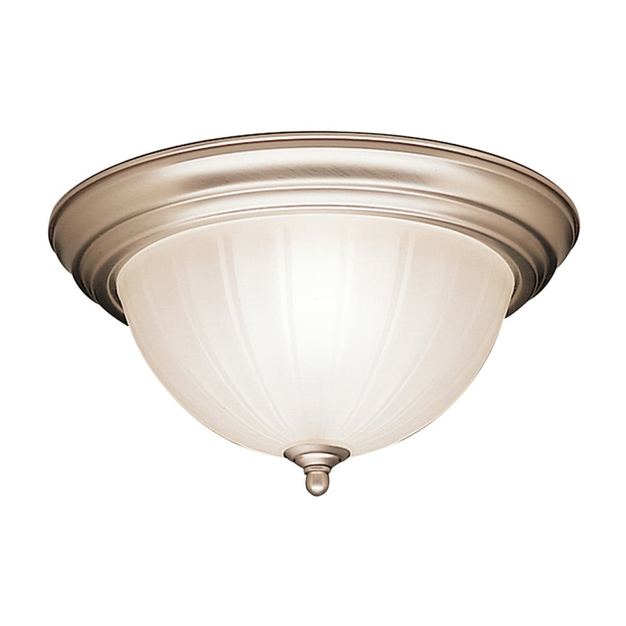 shop kichler 13 25 in w brushed nickel flush mount light at lowes shop kichler 13 25 in w brushed nickel flush mount light at lowes