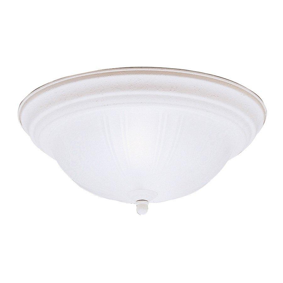 Kichler Lighting 13.25-in W Stucco White Ceiling Flush Mount Light