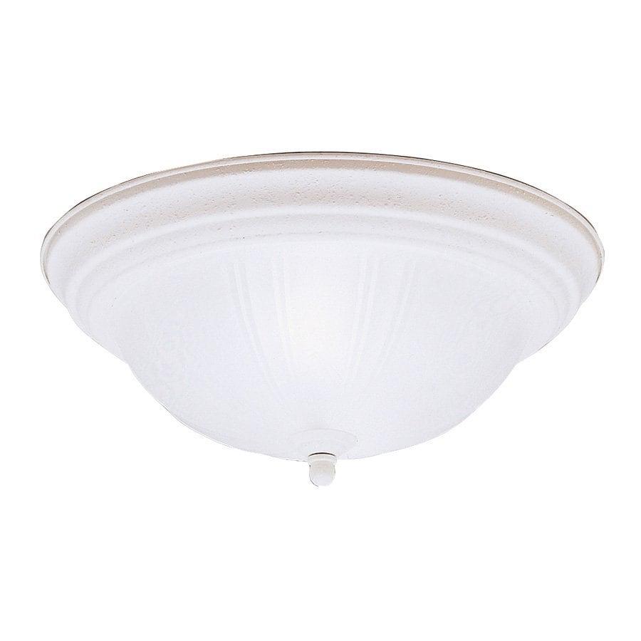 Kichler 13.25-in W Stucco white Flush Mount Light
