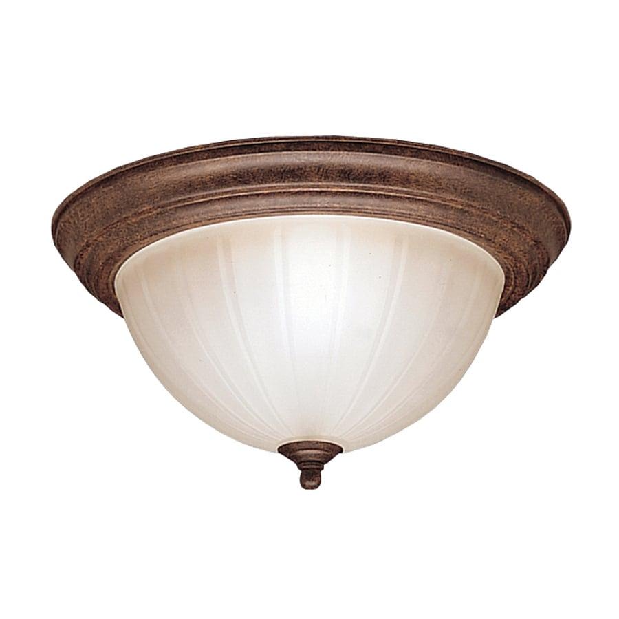 Kichler Lighting 13.25-in W Tannery Bronze Flush Mount Light
