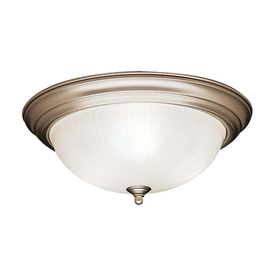 Kichler Lighting 15.25-in W Brushed Nickel Ceiling Flush Mount Light