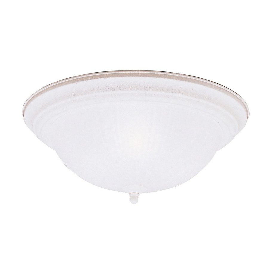 Kichler 15.25-in W Stucco white Flush Mount Light