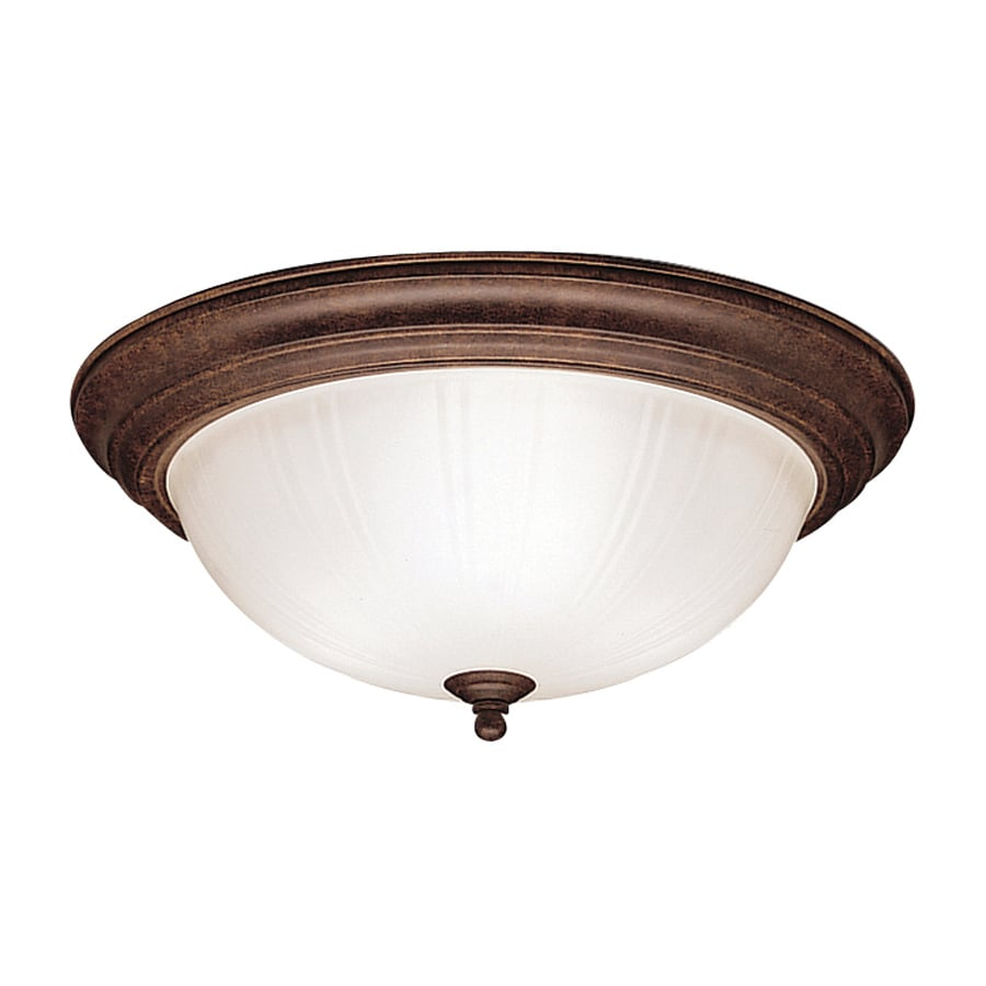 Kichler 15.25-in W Tannery Bronze Flush Mount Light