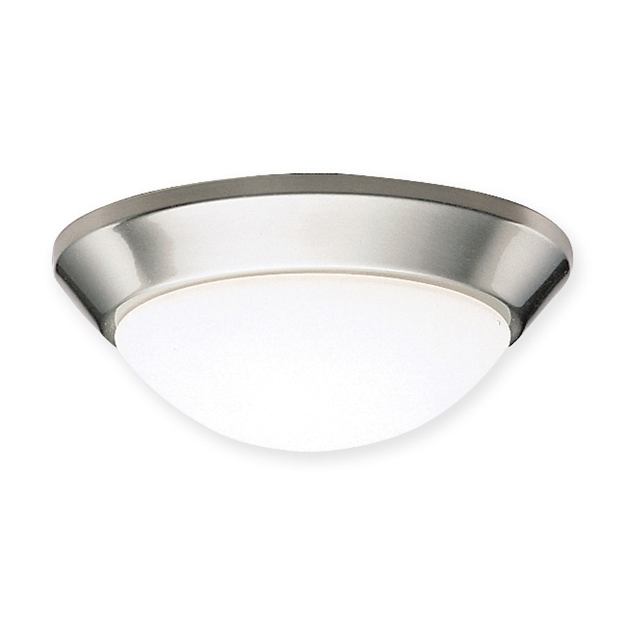 Kichler Ceiling Space 10-in W Brushed Nickel Flush Mount Light