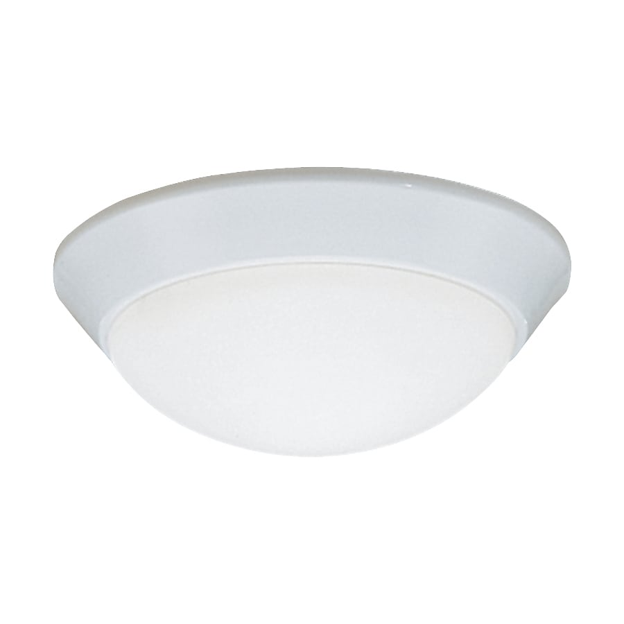 Shop kichler ceiling space 10 in w white flush mount light for Flush mount white ceiling light