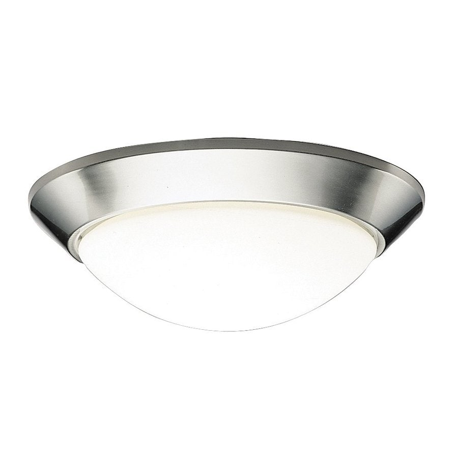 Kichler Ceiling Space 16.5-in W Brushed Nickel Flush Mount Light