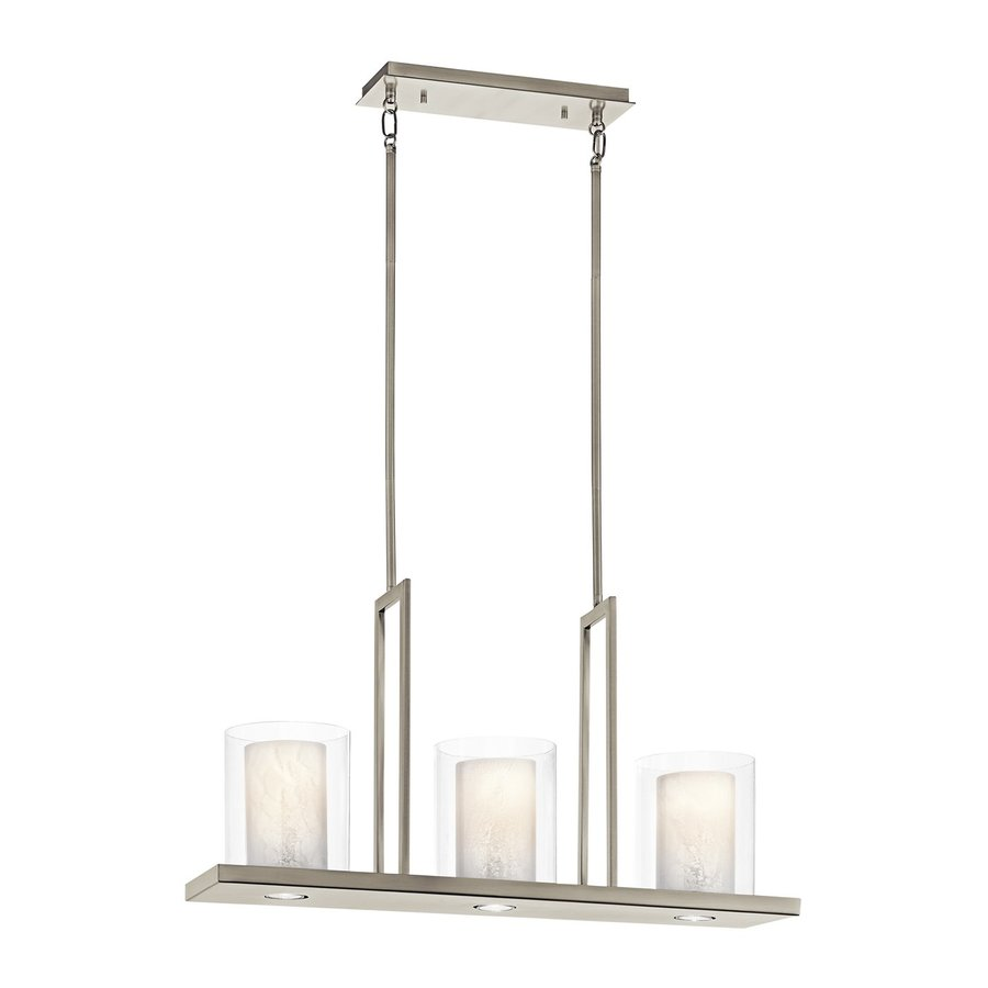kichler kitchen lighting shop kichler triad 31 25 in w 3 light classic pewter 2090
