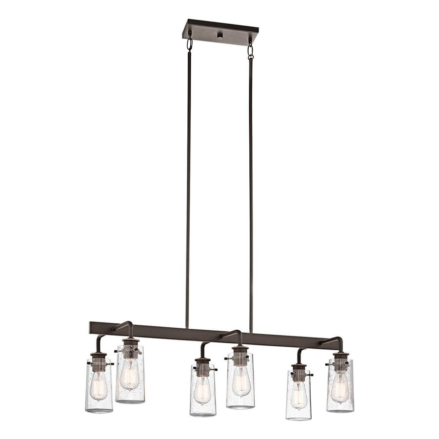 kichler kitchen lighting shop kichler braelyn 34 in w 6 light olde bronze kitchen 2090