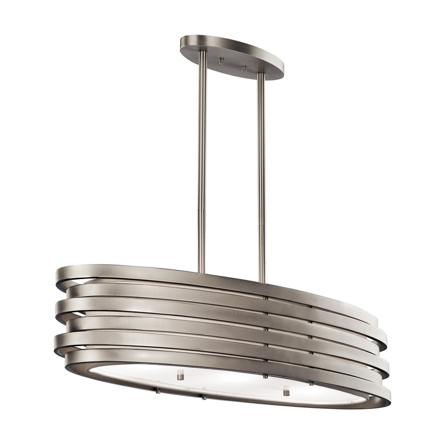 Shop Kichler Roswell In W Light Brushed Nickel Contemporary - Brushed nickel kitchen light fixtures