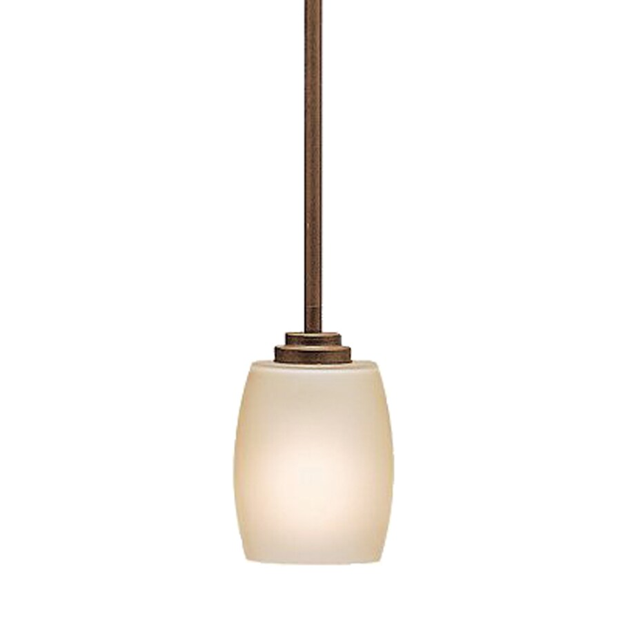 Kichler Lighting Eileen 4.5-in Olde Bronze Hardwired Mini Etched Glass Cylinder Pendant