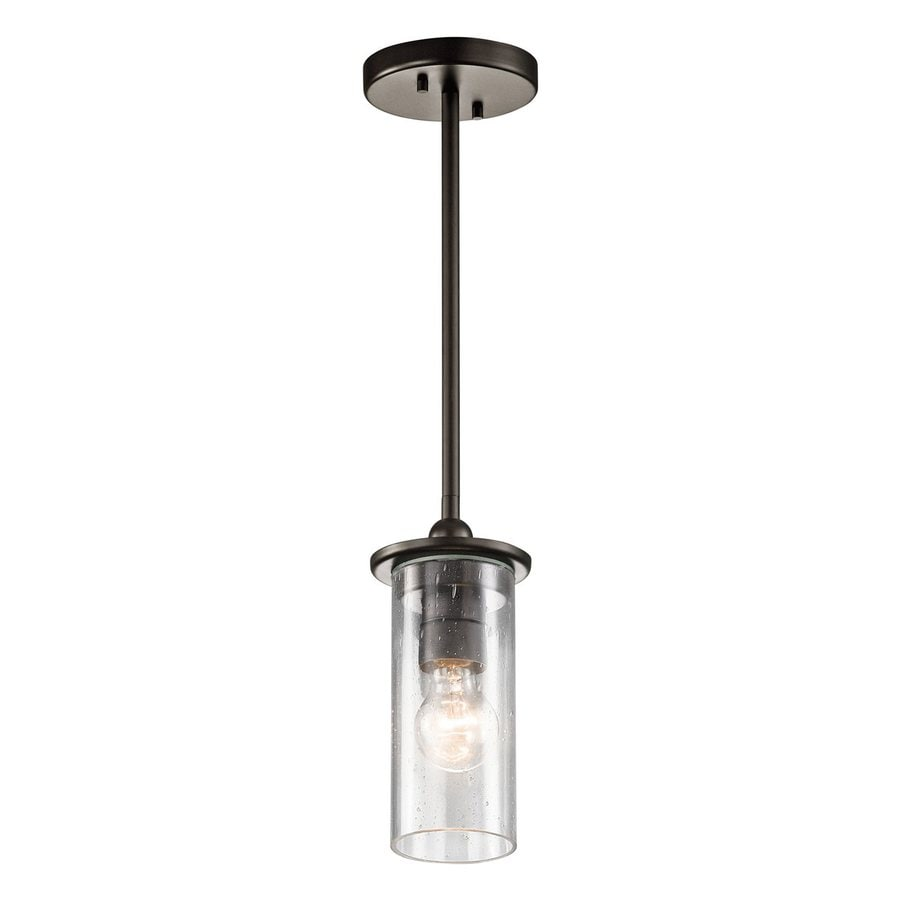 Shop kichler kayde 45 in olde bronze industrial hardwired mini kichler kayde 45 in olde bronze industrial hardwired mini clear glass cylinder pendant aloadofball Gallery