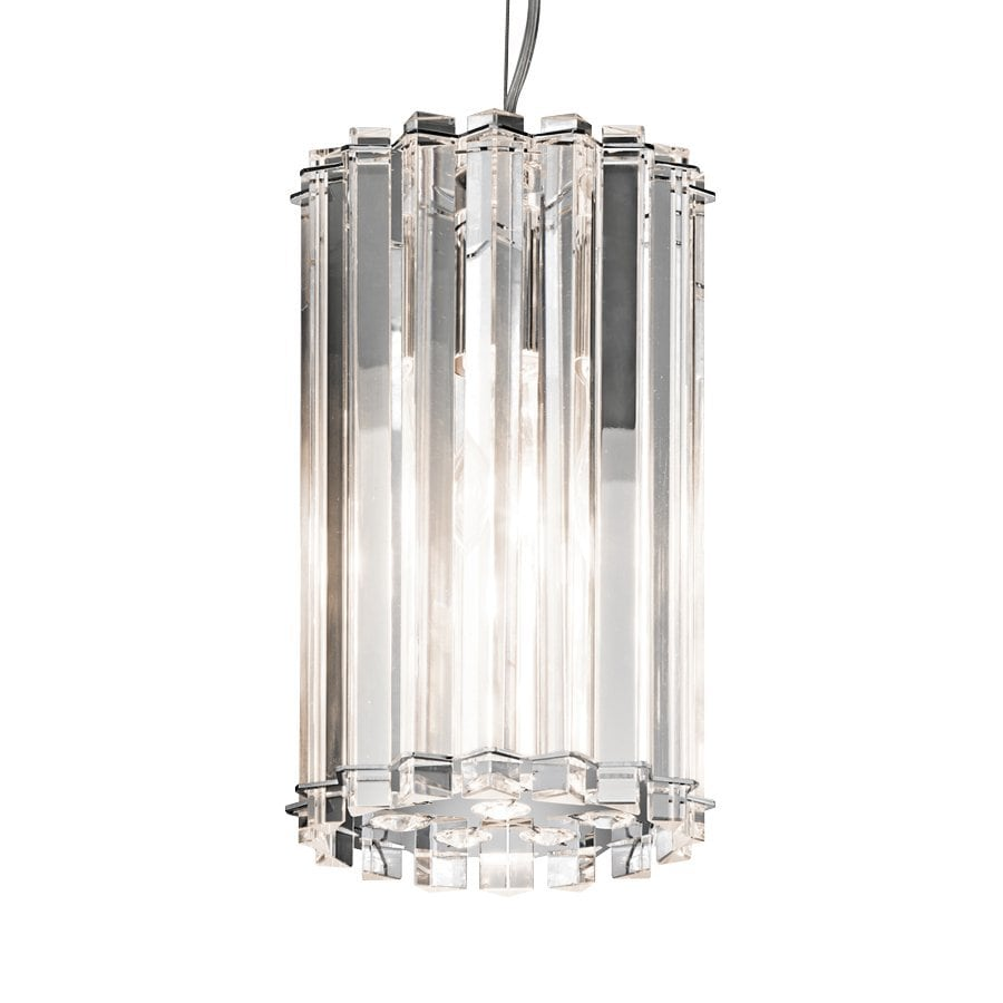 Kichler Lighting Crystal Skye 6.5-in Chrome Crystal Hardwired Mini Crystal Cylinder Pendant