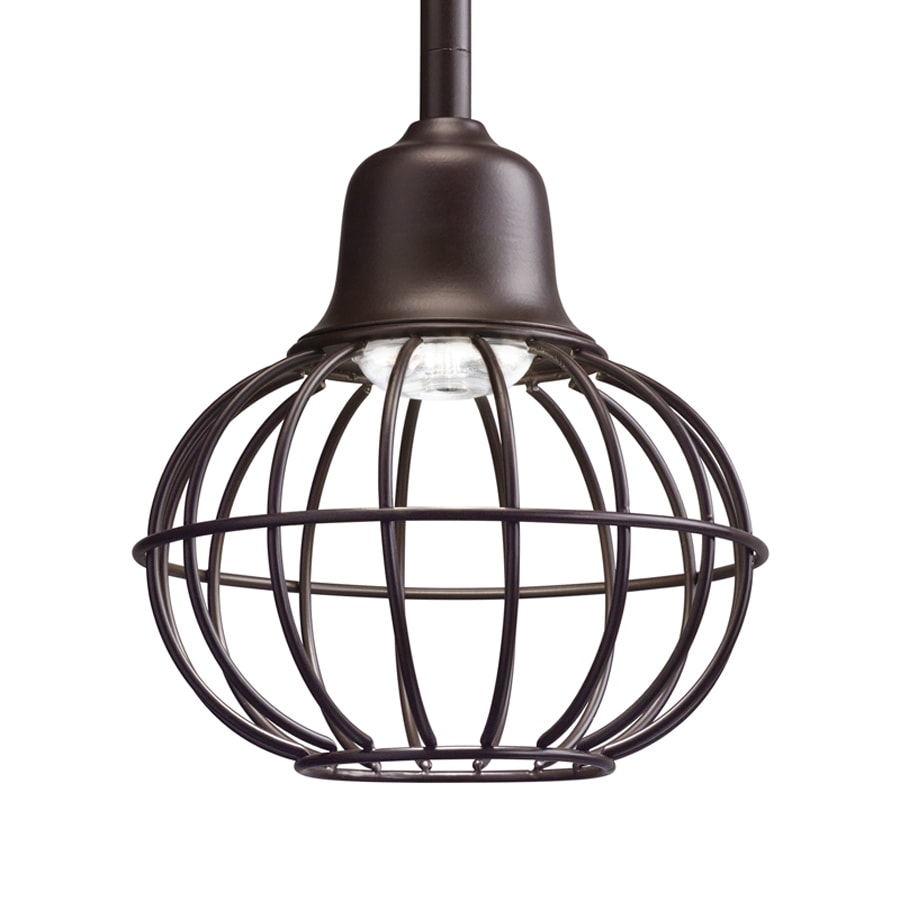 Kichler 6-in Olde Bronze Industrial Mini Cage LED Pendant