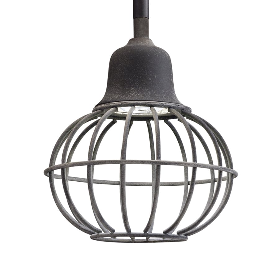Kichler 6-in Weathered Zinc Industrial Mini Cage LED Pendant