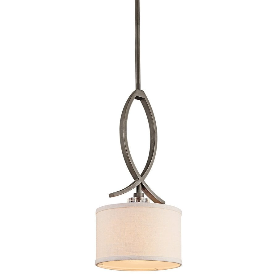 Kichler Leighton 8.5-in Olde Bronze Mini Crystal Drum Pendant