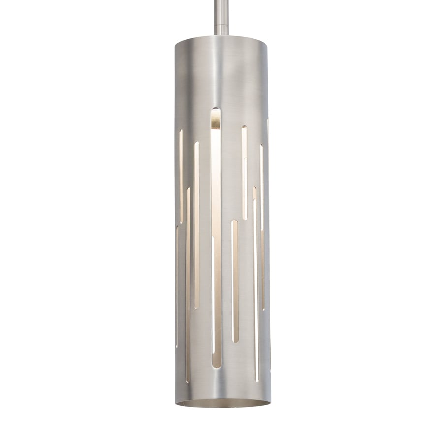 Kichler 3-in Brushed Nickel Industrial Mini Cylinder LED Pendant