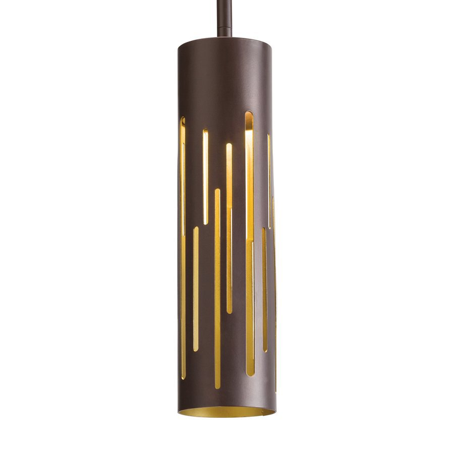 Kichler 3-in Olde Bronze Mini Cylinder LED Pendant