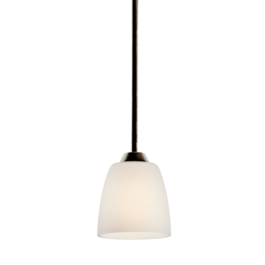 Kichler Lighting Granby 5.25-in Olde Bronze Hardwired Mini Etched Glass Dome Pendant