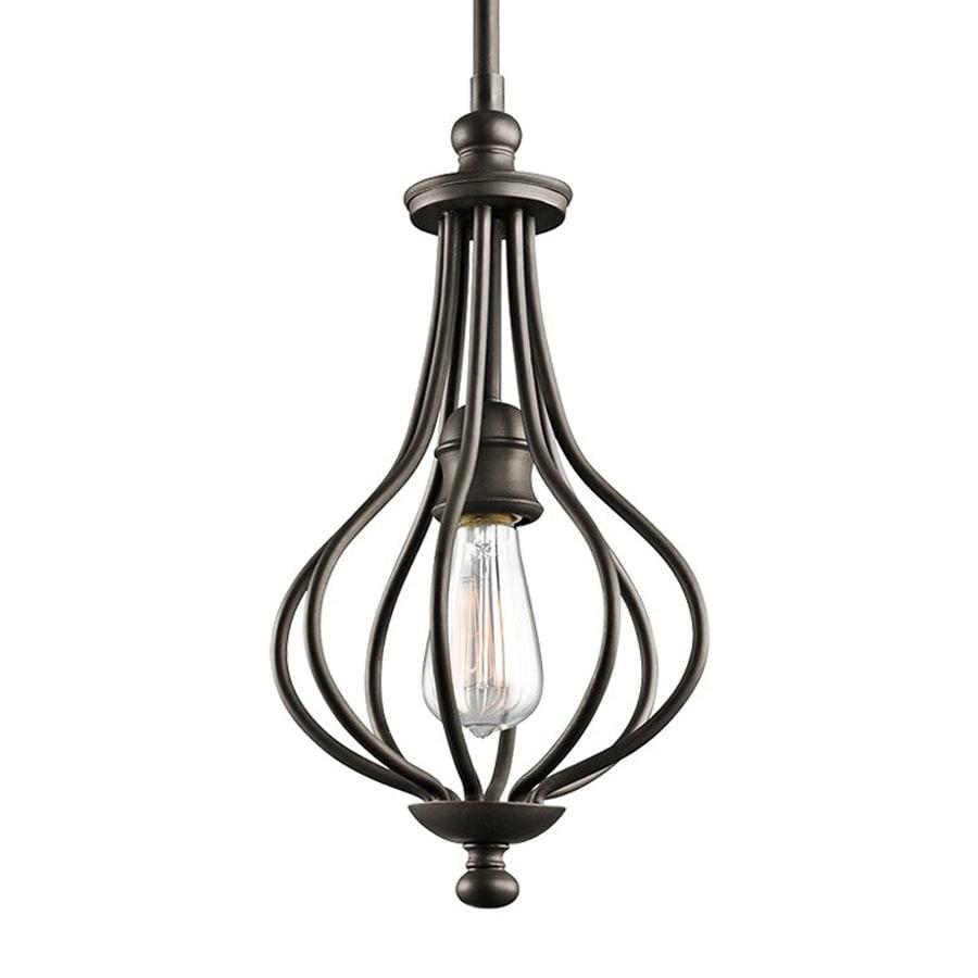 Kichler Lighting Kensington 8.25-in Olde Bronze Vintage Hardwired Mini Cage Pendant