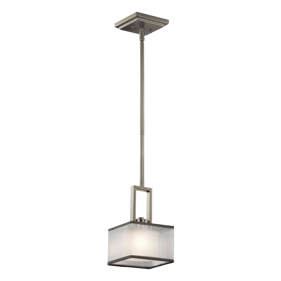 Kichler Lighting Kailey 6-in Brushed Nickel Hardwired Mini Square Pendant