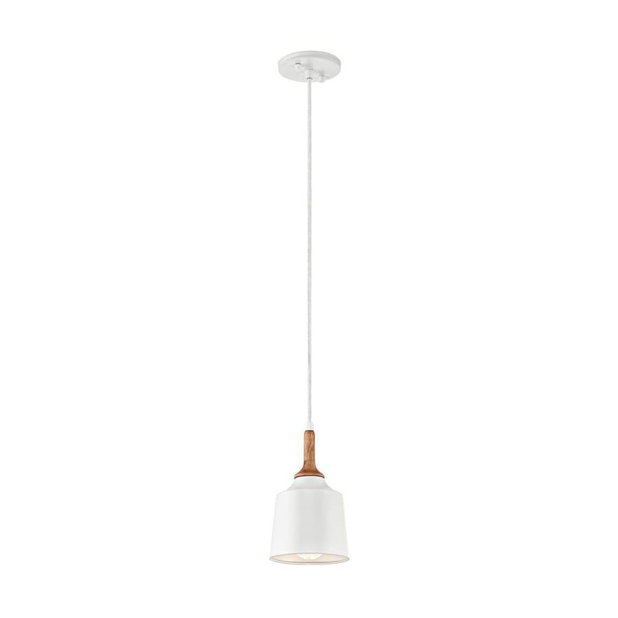 Kichler Danika 5.25-in White Industrial Hardwired Mini Bell Pendant