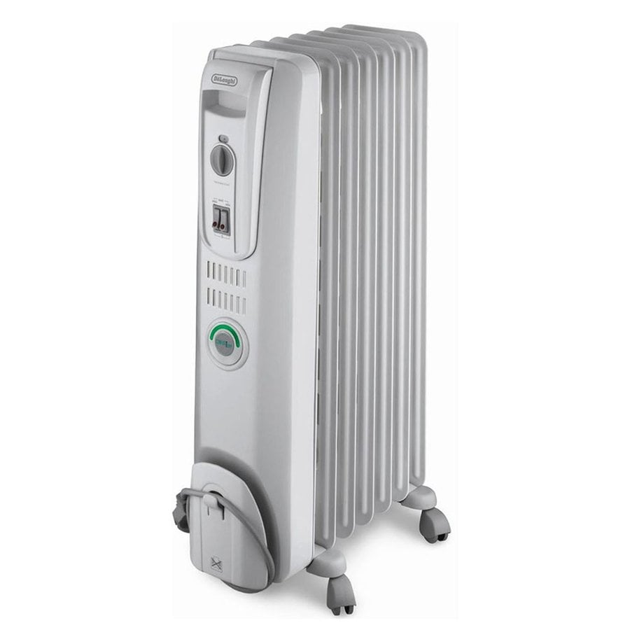 Shop delonghi 1500 watt oil filled radiant tower electric for Electric radiant heat efficiency