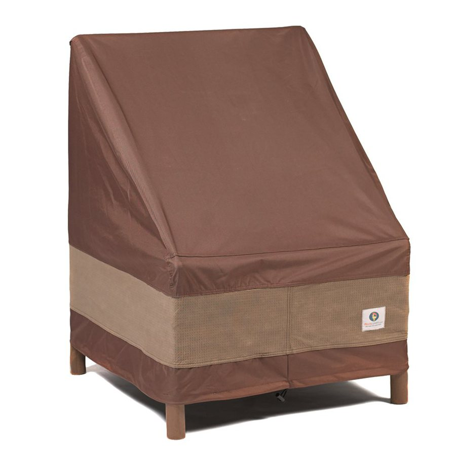 Duck Covers Ultimate Series Mocha Cappuccino Polyester Conversation Chair Cover