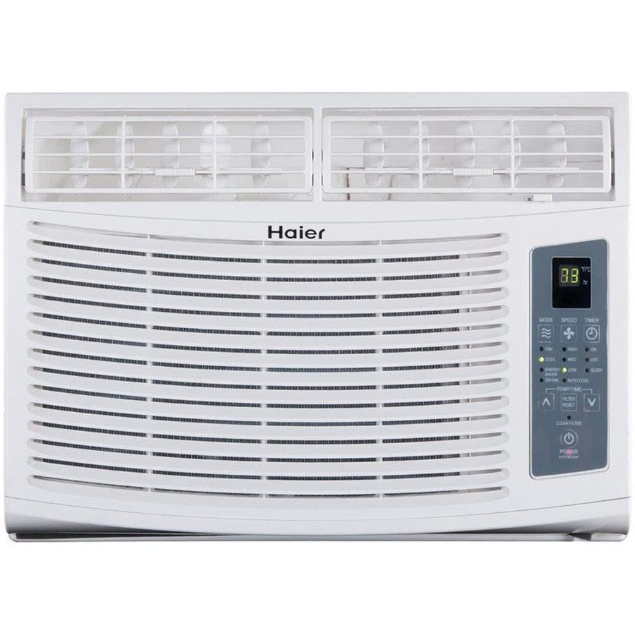 Shop haier 12 000 btu 550 sq ft 115 volt window air for 12 000 btu window air conditioner with heat
