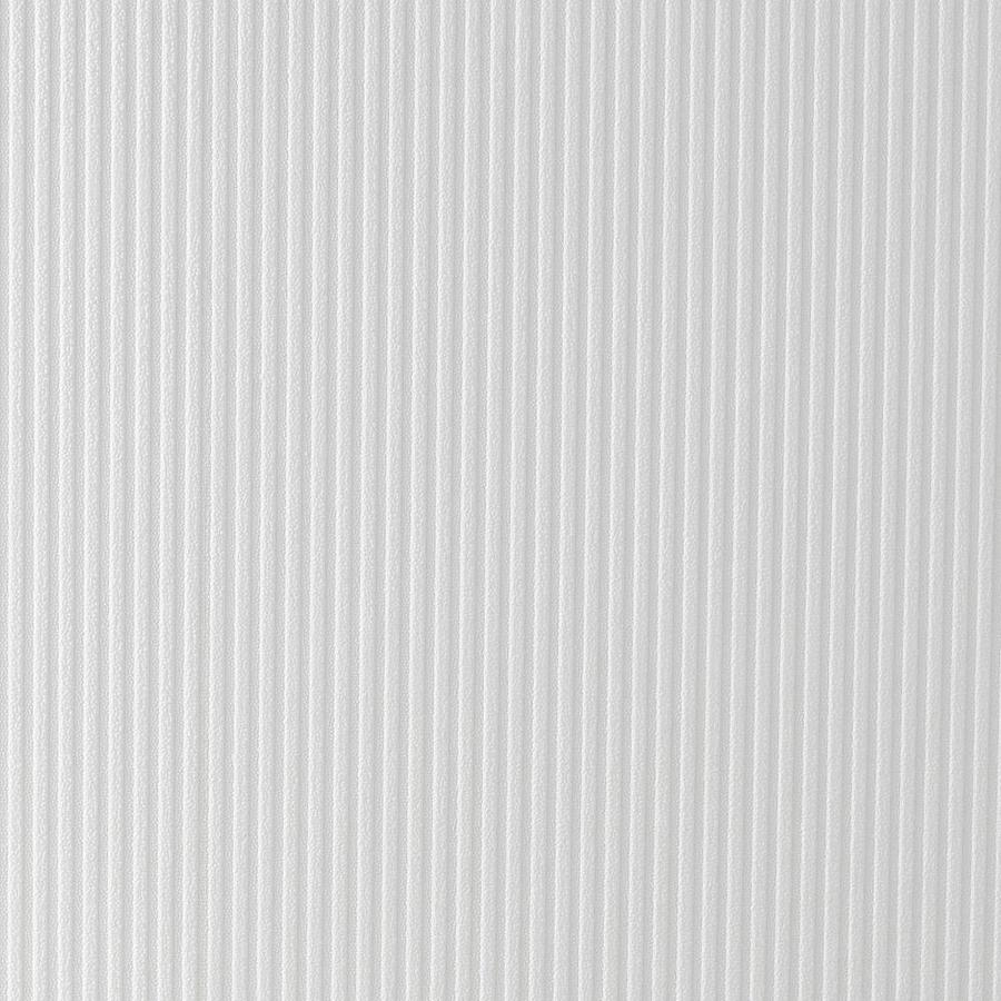 Graham & Brown Eclectic White Vinyl Paintable Textured Stripes Wallpaper