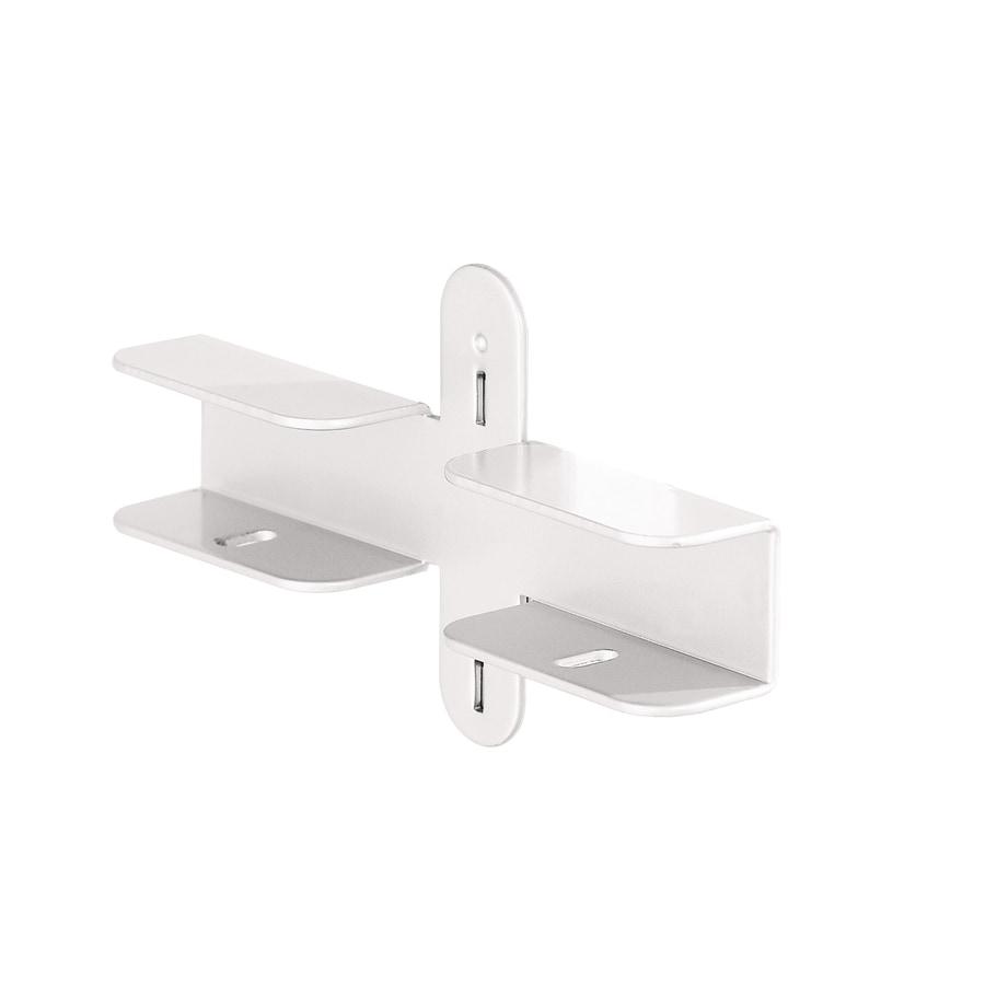 space-pro Steel 6-in x 1-in White Shelf Bracket